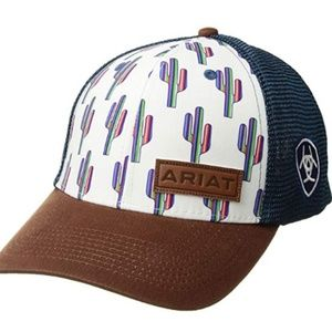 Womens Multi Cactus Snapback Cap
